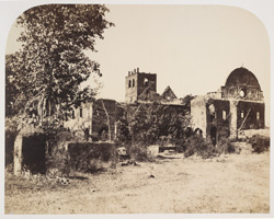 Old Fort of Bassein. North-west view of the ruins of St John's Cathedral